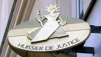 Phototgraphie plaque d'huissier de justice